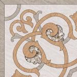 Береза-керамика  Декор Рамина бежевый Д1 глазурованный 41.8х41.8 см
