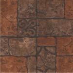 Керамин Керамогранит Бастион 4 коричневый глазурованный 40х40 см