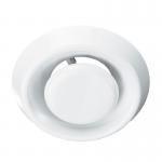 Анемостат А125ВР, d=125 мм белый