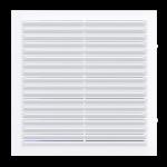 Решетка вентиляционная 138x138 мм с сеткой, белая