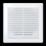 Решетка вентиляционная вытяжная белая 250x250 мм