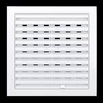 Решетка вентиляционная регулир. 350x350 мм, 3535РРП, пластик, белая