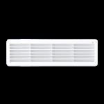 Решетка вентиляционная переточная полипропилен 450x131 мм, белая