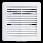 Решетка вентиляционная 340x340 мм, 3434РЦ, с сеткой, пластик, белая