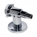 Клапан обратный для стиральной машины настенный (хром)