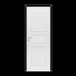Полотно дверное Каспиан филенчатое глухое Белое крашенное М9х21