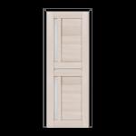 ОЛОВИ Дверное полотно Орегон 900х2000 Дуб Белый экошпон остеклованное без притвора б/фурнитуры