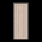ОЛОВИ Дверное полотно Колорадо 800х2000 Беленый дуб экошпон глухое без притвора б/фурнитуры