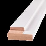 Порог дверной ОЛОВИ Белый ламинированный для дверей без притвора 840 мм