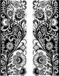Фотообои Орнамент черно-белый 12-0469-АВ Decocode