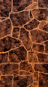 "АКВАТОН листовая панель МДФ ""Камень Бутан"" цвет Темно-коричневый 1220х2440х6 мм (3м2)"