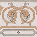 Береза-керамика Декор Рамина бежевый Д2 глазурованный 41.8х41.8 см