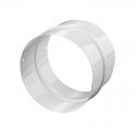 Патрубок (соединитель) ПМ100 d=100 мм металл, белый