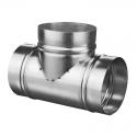 Тройник металлический ТМ125Ц d=125 мм цинк