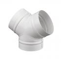 Тройник Y-образный ТМУ150 d=150 мм белый