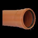 Труба канализационная наружная SN4 d=110х3,4х3000 мм