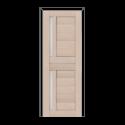 ОЛОВИ Дверное полотно Орегон 800х2000 Беленый дуб экошпон остеклованное без притвора б/фурнитуры