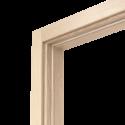 Коробка дверная ОЛОВИ Беленый Дуб экошпон М9 с упл. с фурн. 32x80 мм