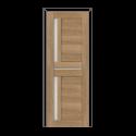 ОЛОВИ Дверное полотно Орегон 600х2000 Дуб Шале экошпон остеклованное без притвора б/фурнитуры