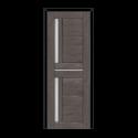 ОЛОВИ Дверное полотно Орегон 600х2000 Дуб Графит экошпон остеклованное без притвора б/фурнитуры