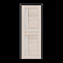 ОЛОВИ Дверное полотно Орегон 800х2000 Дуб Белый экошпон остеклованное без притвора б/фурнитуры
