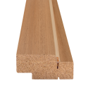 Комплект дверной коробки Дуб Олови золотистый МДФ без притвора с уплотн. б/фурнитуры 28х70 мм