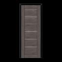 ОЛОВИ Дверное полотно Канзас 900х2000 Дуб Графит экошпон остеклованное без притвора б/фурнитуры