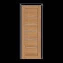 Дверное полотно Олови Канзас 900х2000 Дуб, золотистый экошпон, остеклованное, б/фурнитуры