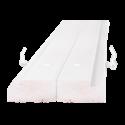 Стоевые двупольной дверной коробки ОЛОВИ 4 петли М21 Белая крашенная