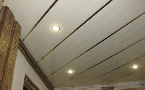 СESAL Комплект реечного потолка для ванной комнаты (1,7*1,7м S150 белый жемчуг+вставка хром)