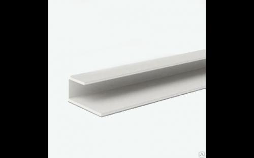 Профиль ПВХ L-образный окантовочный для ГКЛ, 12,5мм, (3м)