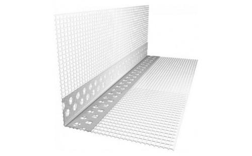 Угол из ПВХ с сеткой 100х150мм для фасадных работ (2,5м)