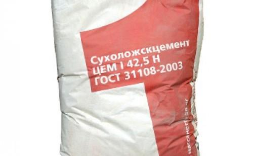ЦЕМЕНТ СУХОЙ ЛОГ 50КГ (I/42,5 Н) ПЦ 500 - Д 0