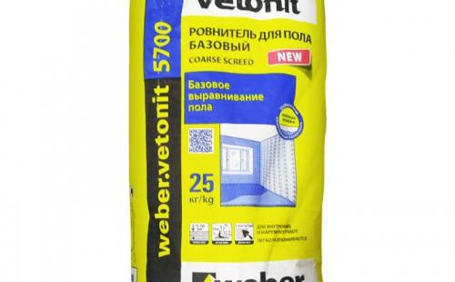 Weber.Vetonit 5700 Ровнитель для пола базовый (25кг)