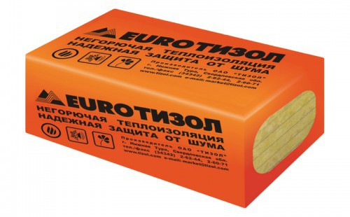 Утеплитель Тизол ЕвроВент 80 1000х600х50 мм, 8 шт