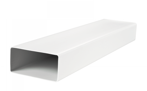 Канал (воздуховод) плоский 8015 204x60 мм (1,5 м), пластик