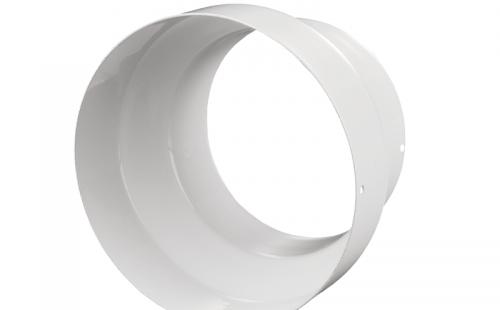 Переходник PM 100x125 мм металлический белый