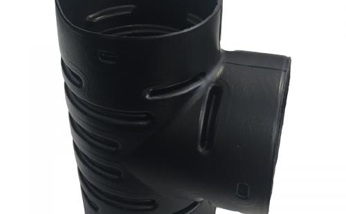 Тройник для дренажных гофрированных труб 63 мм (90 градусов)