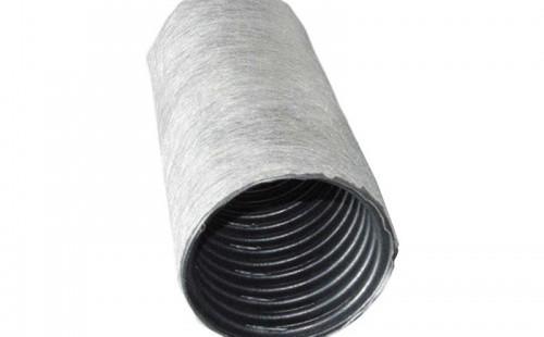 Труба дренажная гофрированная 63 мм, с перфорацией в фильтре (1 м.п.)