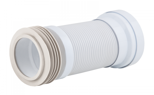 Труба для унитаза гофрир. армированная d=110 мм Unicorn L 250-550 мм