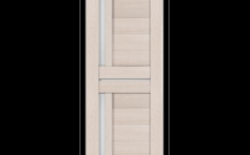 ОЛОВИ Дверное полотно Орегон 600х2000 Дуб Белый экошпон остеклованное без притвора б/фурнитуры