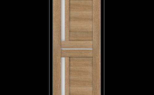 ОЛОВИ Дверное полотно Орегон 800х2000 Дуб Шале экошпон остеклованное без притвора б/фурнитуры
