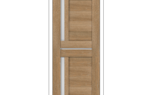 ОЛОВИ Дверное полотно Орегон 700х2000 Дуб Шале экошпон остеклованное без притвора б/фурнитуры