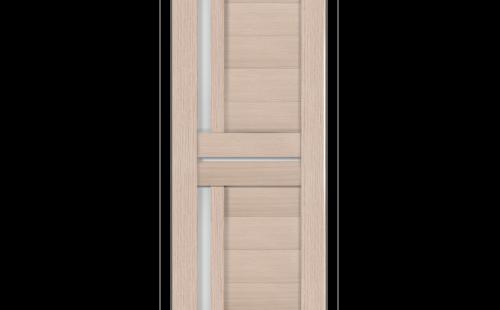 ОЛОВИ Дверное полотно Орегон 700х2000 Беленый дуб экошпон остеклованное без притвора б/фурнитуры