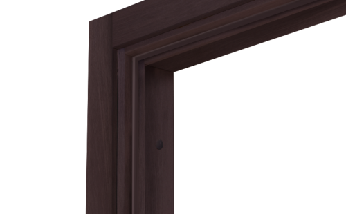 Коробка дверная ОЛОВИ Венге экошпон М10 с упл. с фурн. 32x80 мм
