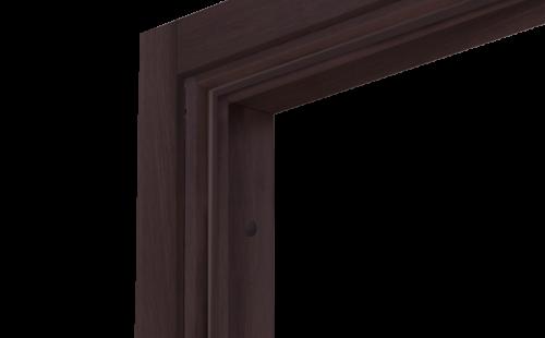Коробка дверная ОЛОВИ Венге экошпон М7 с упл. с фурн. 32x80 мм
