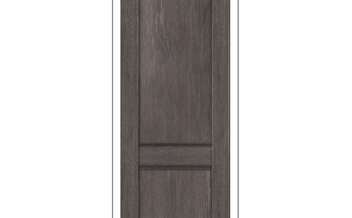 ОЛОВИ Дверное полотно Невада 600х2000 Дуб Графит экошпон глухое без притвора б/фурнитуры