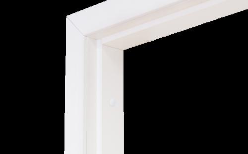 Коробка дверная ГОСТ ОЛОВИБелая ламинированная 1240 мм с фурнитурой
