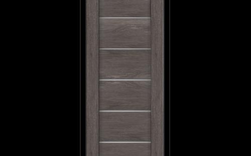 Дверное полотно Олови Канзас 600х2000 Дуб Графит экошпон