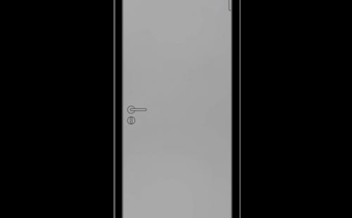 Полотно дверное глухое ОЛОВИ М9x21 Серое RAL7040 крашенная